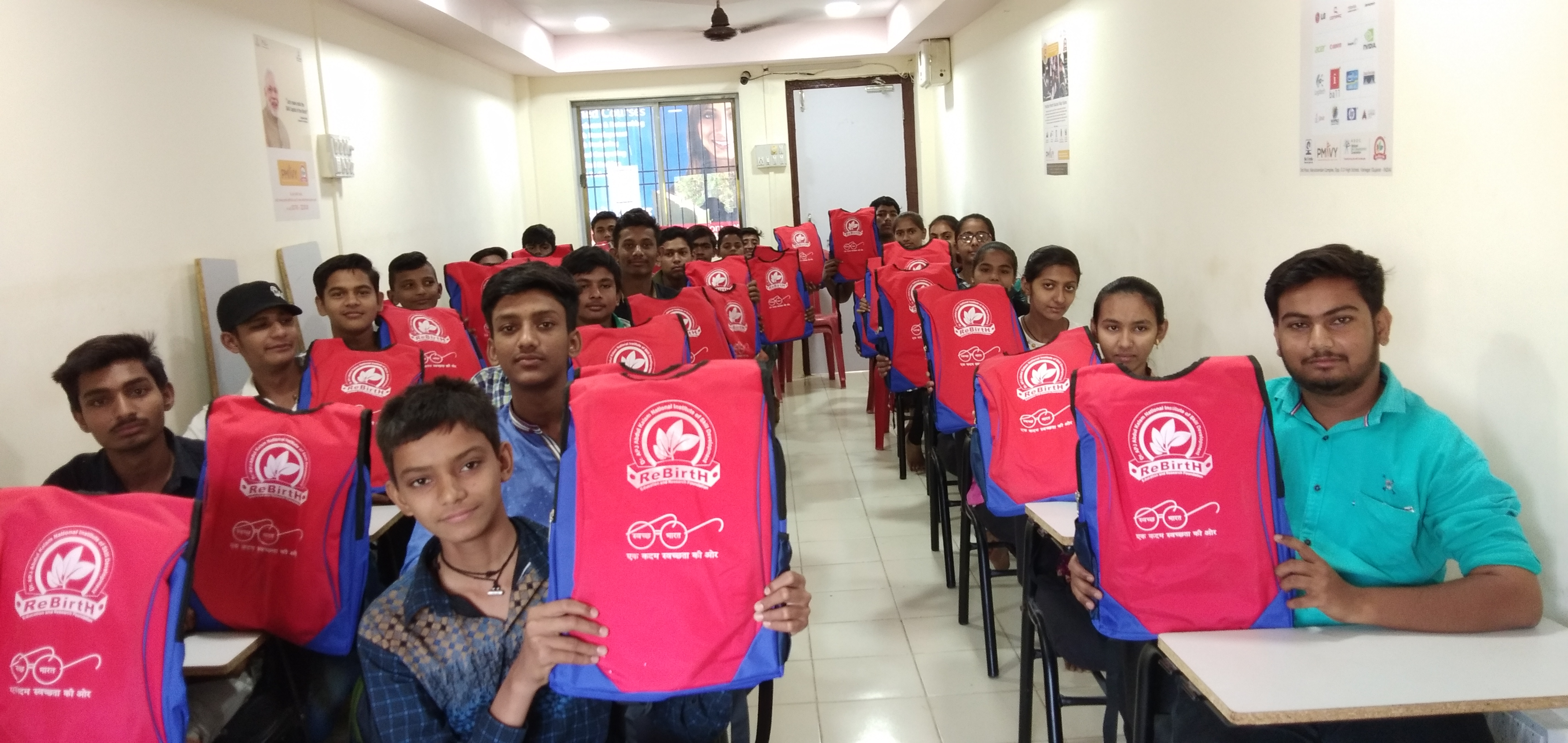 Kit Distribution at Rebirth Education and Research Foundation